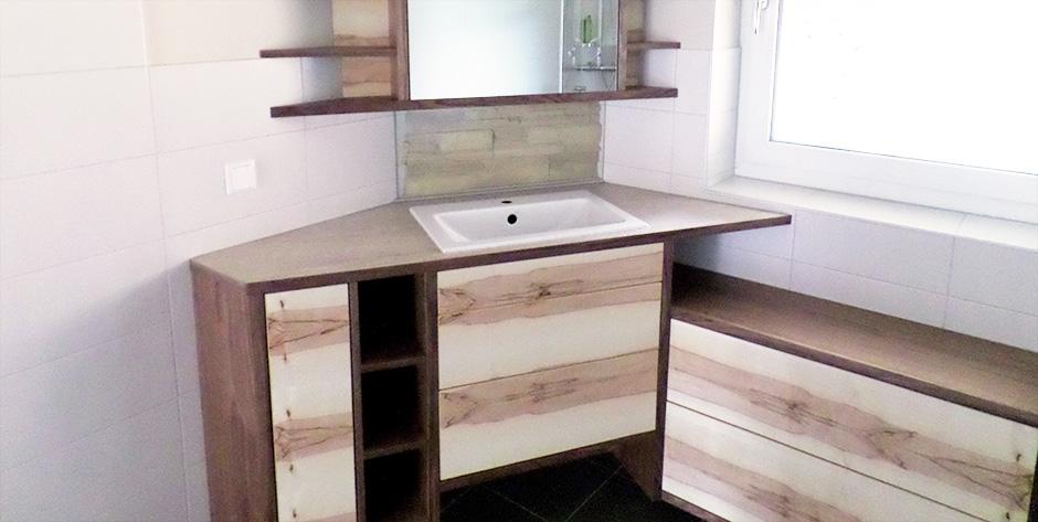 badezimmer in satinem und amerikanischem nussholz wohntraum branka. Black Bedroom Furniture Sets. Home Design Ideas