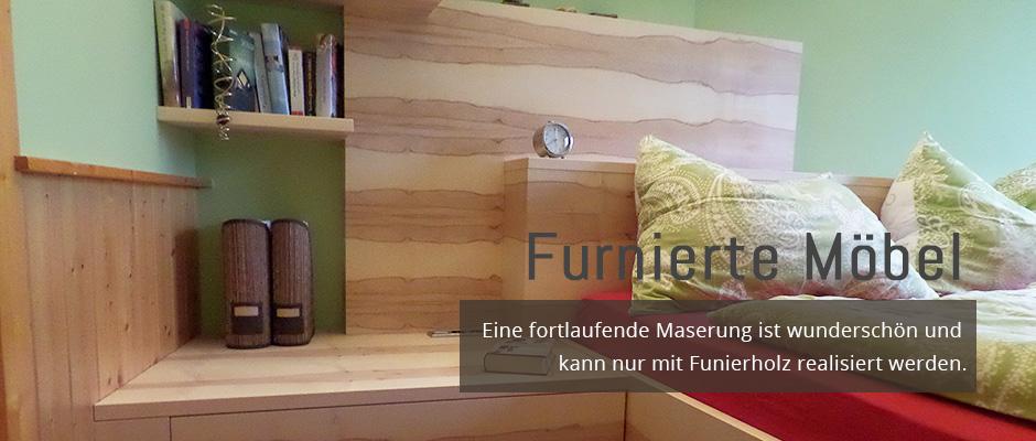 Furnierte Möbel