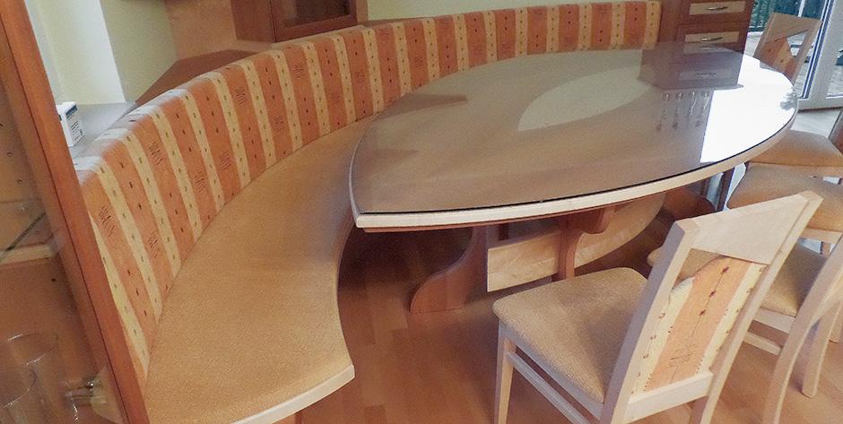 Esszimmer aus Birne kombiniert mit Birke - Sitzbank