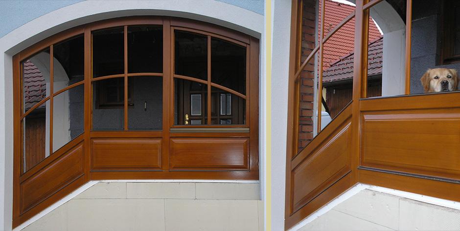 Arkadenfenster aus Lärchenholz