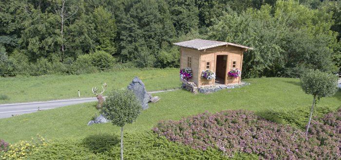 Gartenhaus aus der Luft