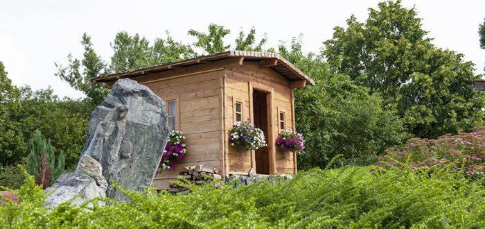 Gartenhaus von der Seite