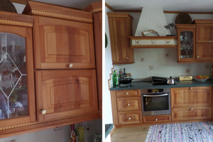 Rustikale Küche aus Birnen-Holz - Kochecke