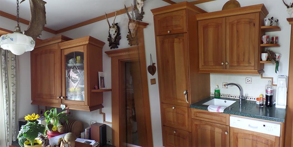 Rustikale Küche aus Birnen-Holz - Bar