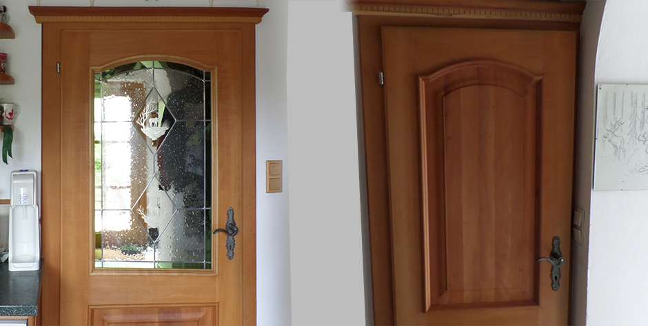 Rustikale Küche aus Birnen-Holz - Türen