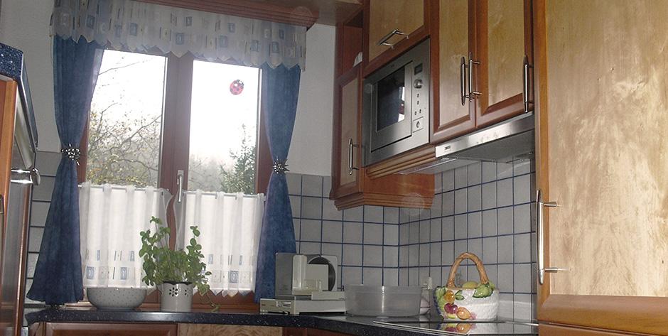 Küche aus Birnen und Birkenholz - Übersicht
