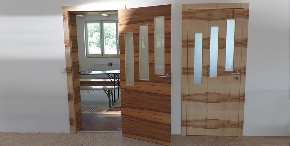 Moderne Zimmertür - Innen und Außen