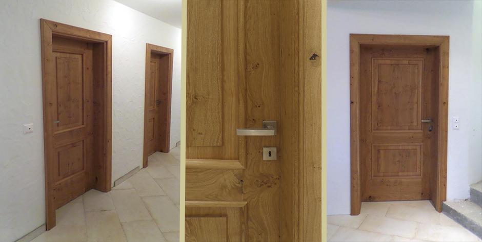Tür aus Asteiche - Details