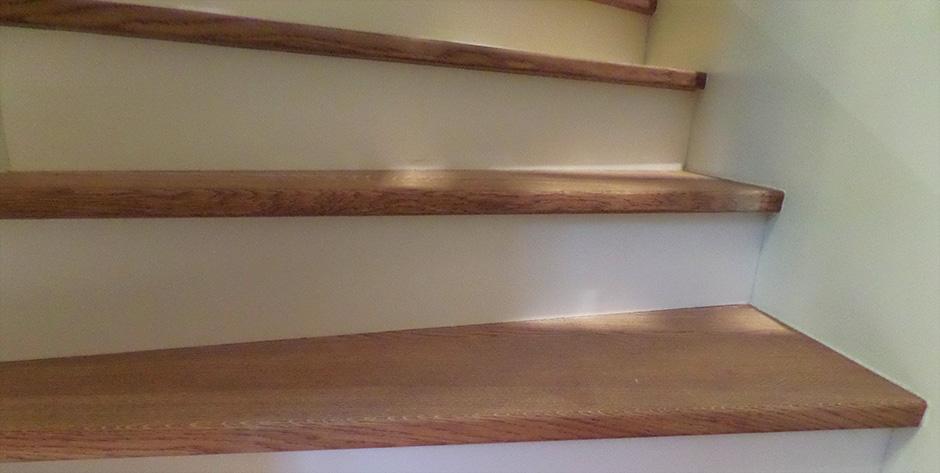 Treppe aus Eiche gebürstet und geölt