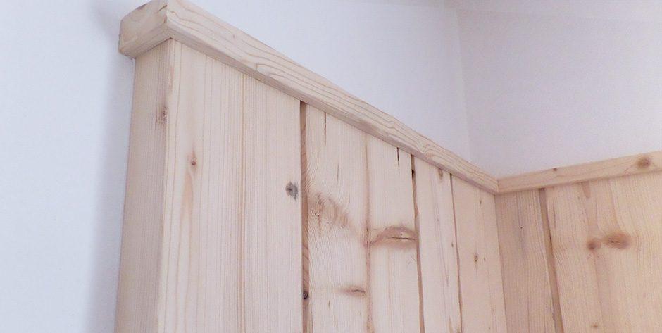 Wandvertäfelung-Fichte roh-Detail