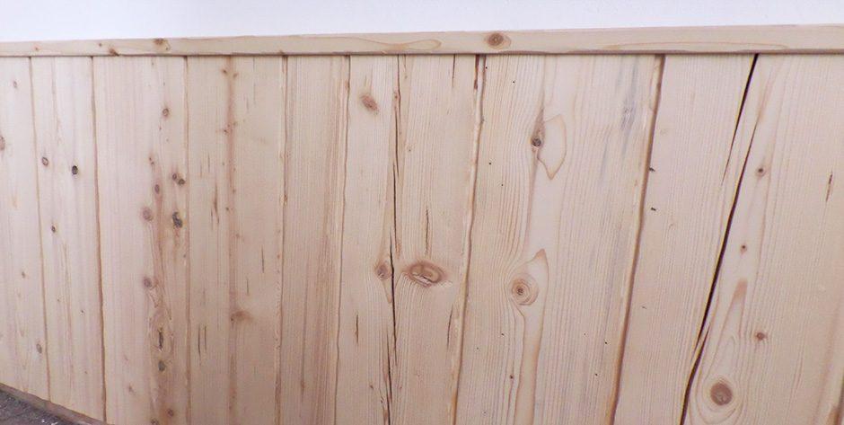 Wandvertäfelung-Fichte roh