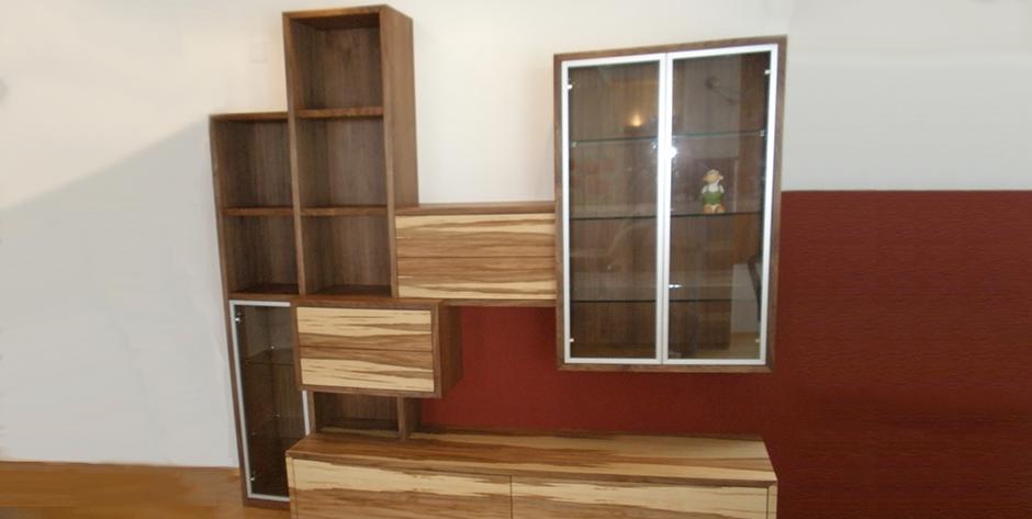 Wohnzimmer -  Wandverbau -  Regalsystem