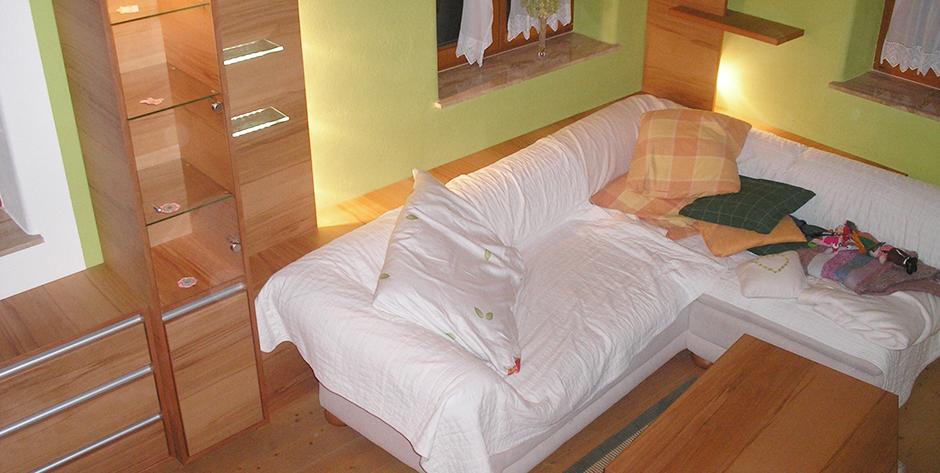 Wohnzimmer aus Kernbuche - Überblick