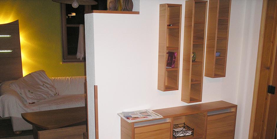Wohnzimmer aus Kernbuche - Beimöbel